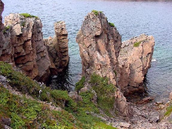 Sea Stacks on Pigeon Island, Notre Dame Bay